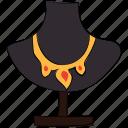 jewellery display, jewelry, jewelry showcase, necklace, necklace display, necklace stand icon