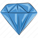 diamond, gem, gemstone, jewel, ruby, ruby stone icon