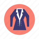 jacket, overcoat, snowflake, winter icon