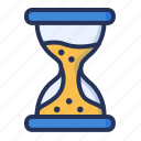 deadline, hourglass, management, time icon