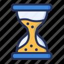 deadline, hourglass, management, time