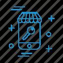 key, market, shopping, store icon
