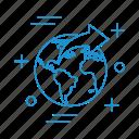 globe, market, shopping, store, world icon