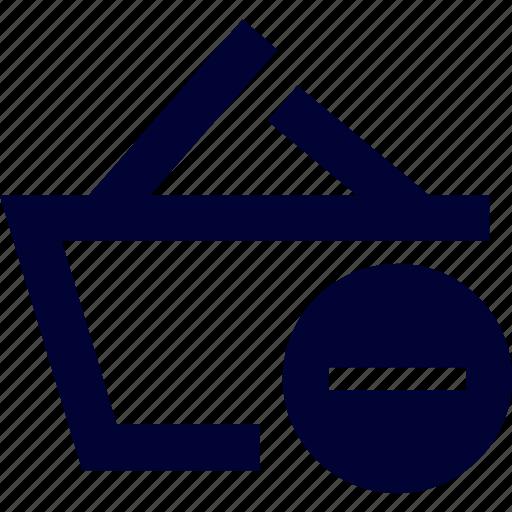 basket, cart, ecommerce, handcart delete, remove, shop, shopping icon