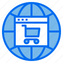 cart, globe, mobile, online, website