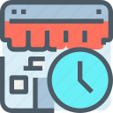 browser, shop, shopping, store, time, timer icon