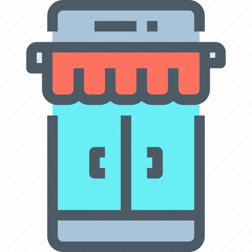 commerce, mobile, online, shop, shopping, smartphone, store icon