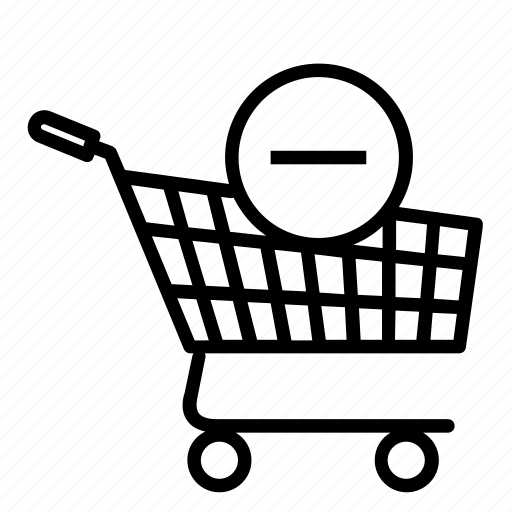 online, plus, products, remove, shopping, shopping cart icon