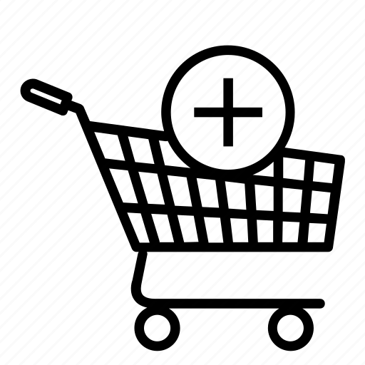 cart add, online, online store, plus, shopping, shopping cart icon