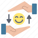 equal, exchange, gift, happiness, offer icon