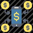 cashless, deposite, exchange, money, transfer