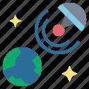 comprehensive, network, satellite, online, signal icon