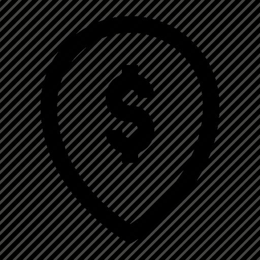 blackfriday, dollar, ecommerce, location, money, pin, shopping icon