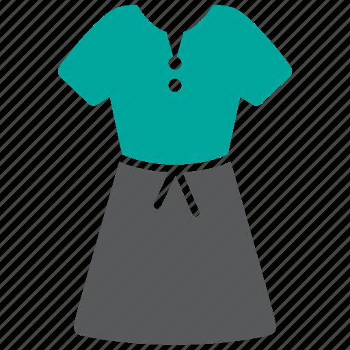 dress, fashion, woman icon