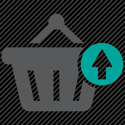 basket, return, shopping icon