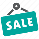 sale, sign, store icon