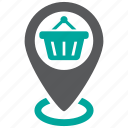 location, shopping, store icon