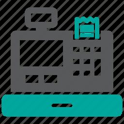 cash, receipt, register icon