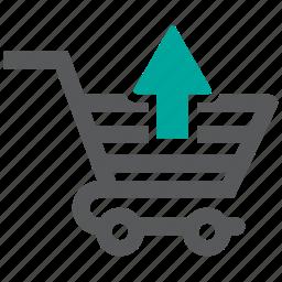 cart, return, shopping icon