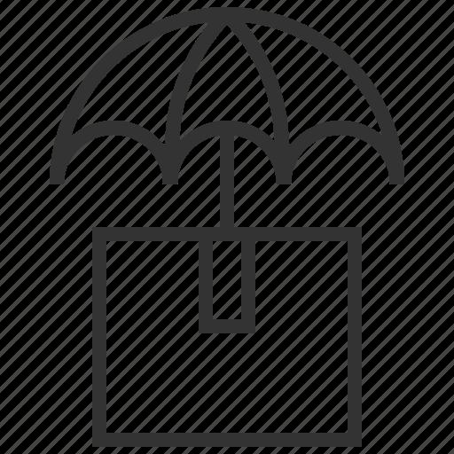 cargo, insurance, privacy, protection, security, shield, umbrella icon