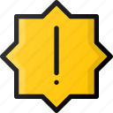 sticker, alert, atention icon