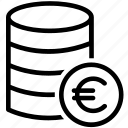 coins, earnings, euro, finance, money, payment, wealth icon