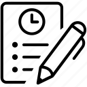 agenda, appointment, checklist, list, schedule, to do list, wishes icon