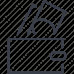 cash, dollar, money, purse, shopping icon