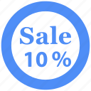 percent, percentage, promotion, sale, shopping, tag icon