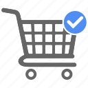 cart, check, ecommerce, ok, shop, shopping, tick icon