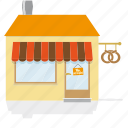 awning, baker, bakery, building, house, shop, store icon