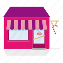 awning, building, candy, house, shop, store, sweets icon