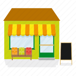 awning, building, fruit, groceries, grocery, shop, store icon