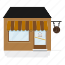 awning, building, craftsman, shoemaker, shop, store icon