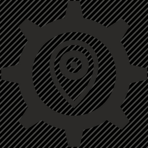 aim, geo, location, point, pointer icon
