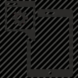 configuration, mobile, program icon