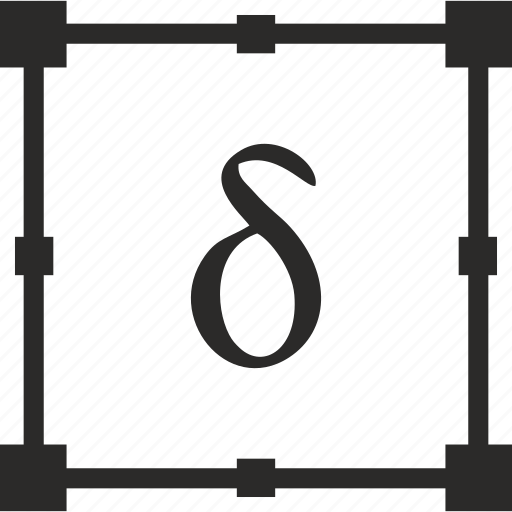 Alphabet delta greek letter icon