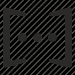 brackets, dialog, phrase, punctuation icon