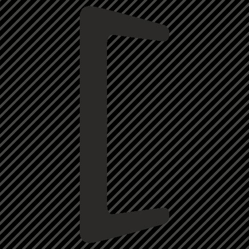 bracket, left, punctuation icon