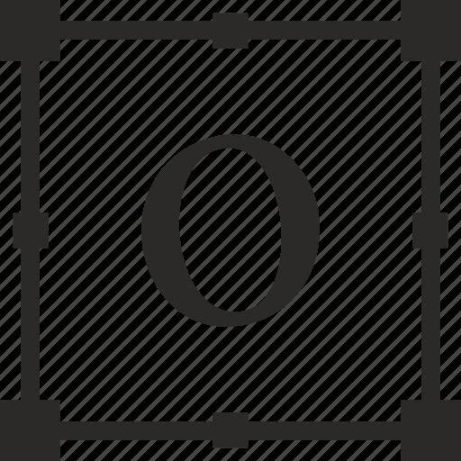 alphabet, greek, letter, omicron icon