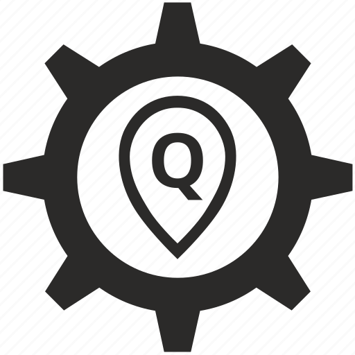 letter, point, pointer, q icon
