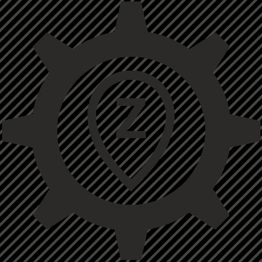 geo, location, point, pointer, z icon