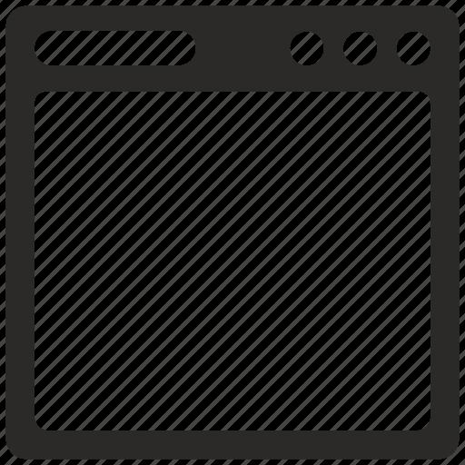 program, script, window icon