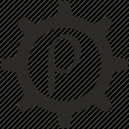 Alphabet Greek Letter Rho Icon