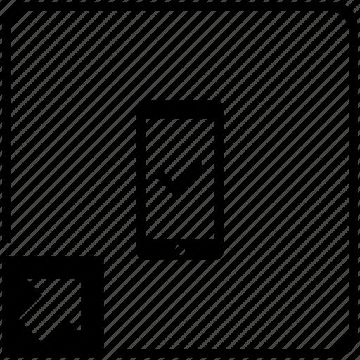 accept, confirm, mobile, phone, shortcut icon