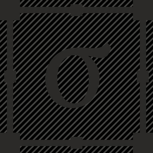 alphabet, greek, letter, sigma icon
