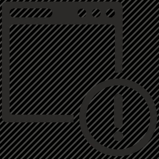 attention, program, warning, window icon