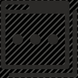 pause, program, window icon