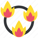 burn, circus, fire, flame, ring, show, trick icon