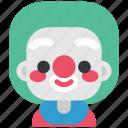 carnival, circus, clown, jester, joker, mask, show icon